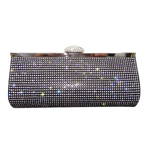 Frauen-Diamant-Abend-Beutel-Diamant-Mode Partei Handtasche Black