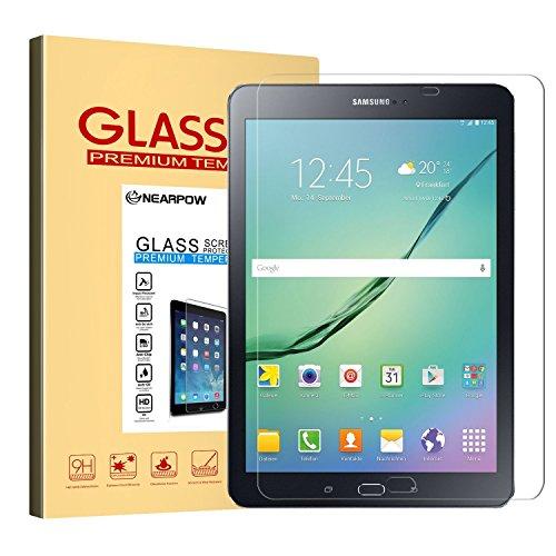 Samsung Galaxy Tab S2 9.7 / S3 9.7 Panzerglas Displayschutzfolie, Nearpow Schutzfolie 9H Härte, Anti-Kratzen, Anti-Öl, Anti-Bläschen, Anti-Fingerabdruck