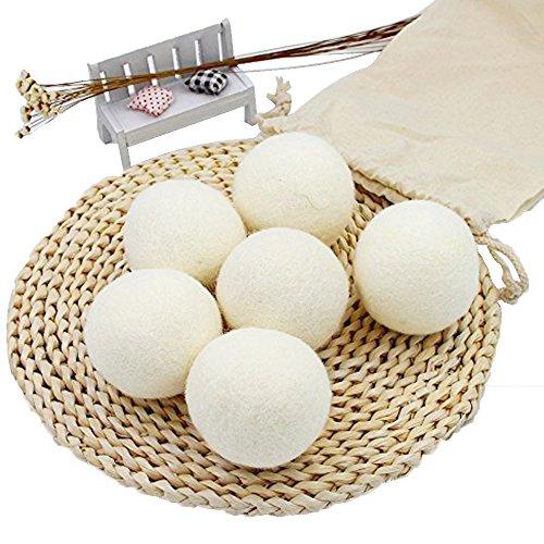 SheepSheepSheep Schaf Wäsche Bälle Trockner XL handgefertigt Bio-Wolle Trockner Bälle Wäschekorb können Sie 3~ 9package (Trockner Blätter, Lavendel)