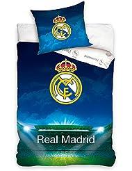 Real Madrid CF Stadium simple bleu Housse de couette et taies d'oreiller
