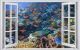 Fische Unterwasserwelt Meer Wandtattoo Wandsticker Wandaufkleber F1331 Größe 40 cm x 60 cm