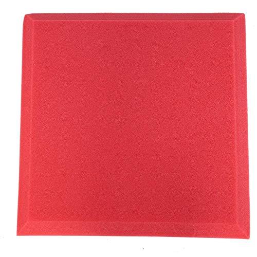AUNMAS Paneles de Espuma acústica Estudio de Espuma insonorizada Absorción de Ruido Panel Esponja Relleno de Pared para KTV Piano Room(Rojo)