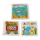 Homyl 3 Pezzi Libro da Bagno per Bambini, Neonati Impermeabili, Gallegginati Educazione Primi