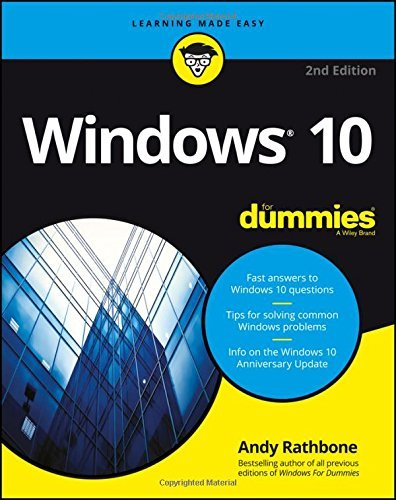 Portada del libro Windows 10 For Dummies by Andy Rathbone (2016-08-15)