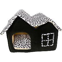 xjpp 1 pc lujo doble de gama alta casa marrón de mascota Perro habitación (55