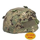 MICH 2002(Ver2Gamuza de funda para casco de combate con bolsillo trasero 6colores de velcro para táctico militar de Airsoft Paintball Caza (Digital Woodland, en FG, camuflaje, AOR2, ACU, Sandstorm Camo), AOR2