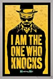 Close Up Breaking Bad Poster I am The one who Knocks (66x96,5 cm) gerahmt in: Rahmen Silber