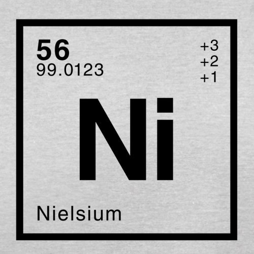 Niels Periodensystem - Herren T-Shirt - 13 Farben Hellgrau