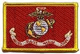 Digni Écusson brodé Flag Patch USA Etats-Unis US Marine Corps - 8 x 6 cm
