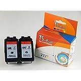 TS-Print–Lote de 2cartuchos de tinta cartuchos Canon CL546+ PG545XL BK + C 30ml negro black + 24ml Tricolor Tricolor Colores Color