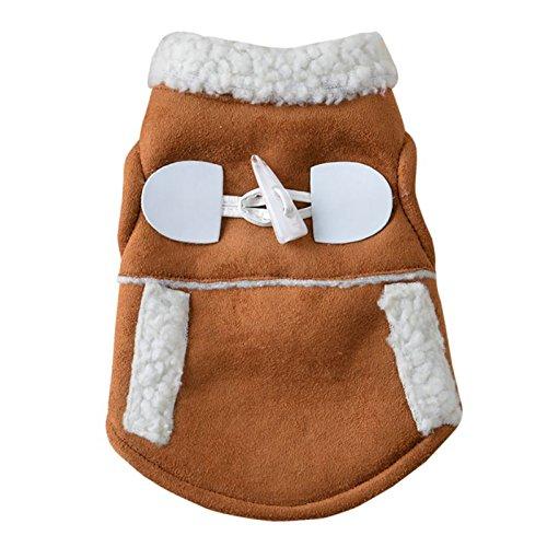ZHAOZX Abbigliamento Invernale per Cani Giacca Invernale Set Caldo Gilet in Pile Velluto Piccolo Cane Giubbotto Moto Giacca Abbigliamento Cappotto Nuove Forniture Pet