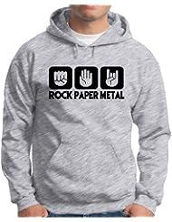 Touchlines Herren  Kapuzen Pullover Stein Papier Rock  Heavy Metal