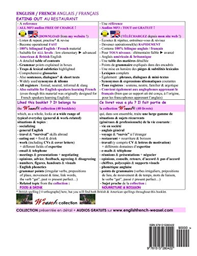 Anglais / Francais : Au Restaurant: Version couleur: Volume 9 (Weasel)