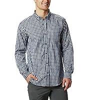 قميص رابيد ريفرز 2 للرجال بأكمام طويلة من كولومبيا Collegiate Navy Gingham Small