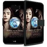 YOUNiiK Booklet Case Tasche (schwarz) für Samsung Galaxy A5 (2016) - Chroniken der Unterwelt: City of Bones / Nephilim