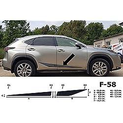 Spangenberg 370005801 Bande de Protection latérale pour Lexus NX 300H SUV NX300H à partir de 07.2014- F58 Noir
