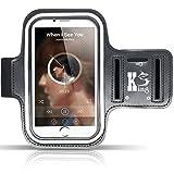 Wasserfestes Sportarmband Hülle (5,5 bis 6,0 Zoll), Kingshark Sport-Armband Sweatproof Joggen Laufen Sport Armband Handy Hülle Schutzhülle Case + Schlüsselhalter Kopfhörer Anschluss für Samsung S8/ iPhone 6 6s / Huawei P10 Galaxy S7 edge / Sony Xperia XZ oder von 5.5 bis zu 6.0 Zoll Smartphone