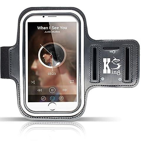 Wasserfestes Sportarmband Hülle (5,5 bis 6,0 Zoll), Kingshark Sport-Armband Sweatproof Joggen Laufen Sport Armband Handy Hülle Schutzhülle Case + Schlüsselhalter Kopfhörer Anschluss für Samsung S8/ iPhone 6 6s / Huawei P10 Galaxy S7 edge / Sony Xperia XZ oder von 5.5 bis zu 6.0 Zoll