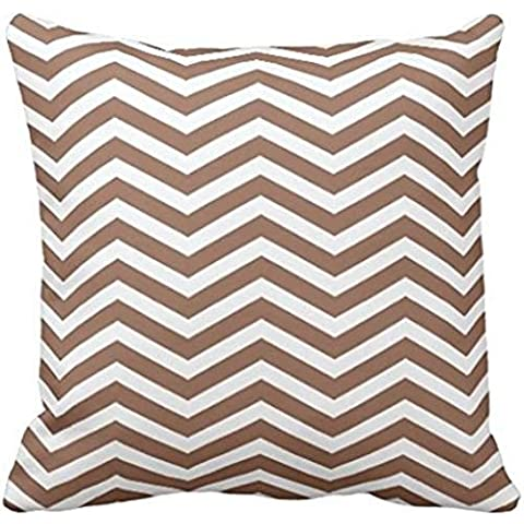 Russet Brown Zigzag Pattern Pillow case 2222