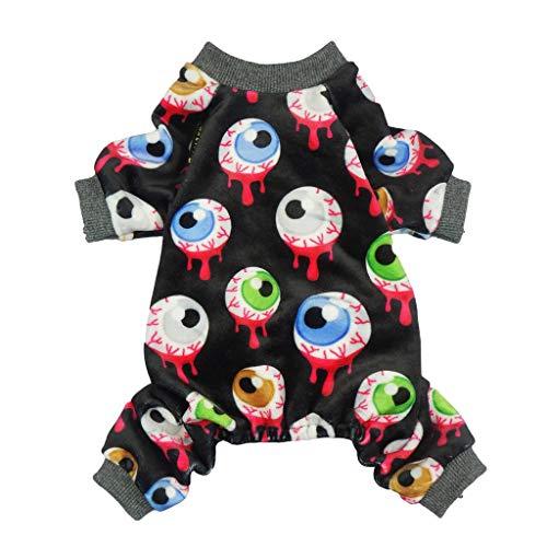 Fitwarm Halloween-Schlafanzug für Hunde und Katzen, Schwarz (Baby Katze Halloween Schwarz Kostüm)