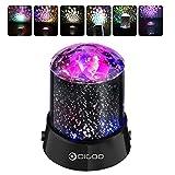 digoo dg-snl lámpara de escena, lámpara de proyector juegos de luz Soirée LED coloré 2-en-1modelo Party Light con 360grados de rotación, 4LED Bead 4iluminación cambio de color disco DJ Fiesta