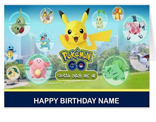 Pokemon Go Personalized Birthday Card