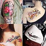 DaLin+Temporary+Tattoo Dalin 4 Sheets Fashion Temporary Tattoos, Lotus, Koi Fish, Wings, Sexy Lady Amazon