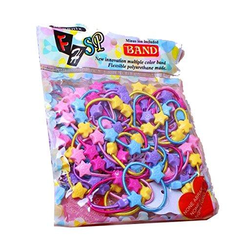 caxmtu 50PCS/LOT Mini Gummi Band für Baby Kinder Mädchen Candy Farbe Haar Seil Multicolor (Gummibänder Tie Dye)