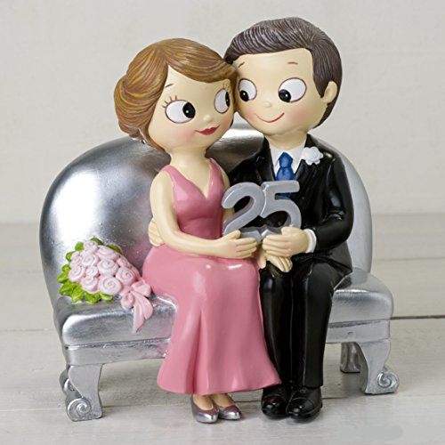 Silver wedding figure 25 anniversary ENGRAVED PERSONALIZED figures