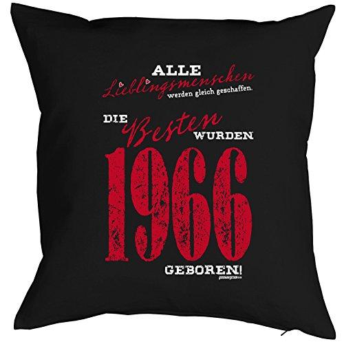 Lieblingsmensch zum 51. Geburtstag Geschenk - Kissen mit Innenkissen - 51 Geb. Jahrgang 1966 Lieblingsmenschen die Besten 1966 geboren Deko Nutzkissen 40x40 cm : )