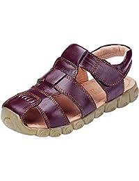 DADAWEN Boy's Girl's Closed Toe Outdoor Sandal (Toddler/Little Kid/Big Kid)