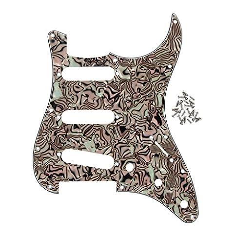 FLEOR 11Löcher SSS Style E-Gitarre Pickguard mit Schrauben für Amerika/Mexiko