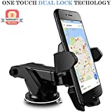 Mobile Gabbar Mobile Holder / Mobile Stand / Car Stand / Car Mobile Stand Adjustable Car Windshield/Dashboard/Working Desk Mount With Quick One Touch Technology For Mobiles Phones.(Black )