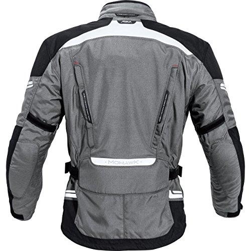 Mohawk Mohawk Veste de moto textile 1.0 Gris - Gris