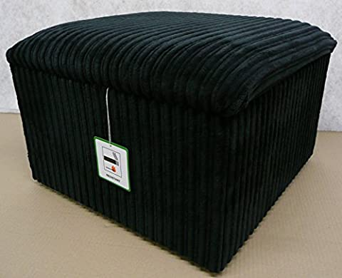 Large Storage box with a lift up lid in black jumbo cord fabric..also available in different coloured fabrics...just ask and we can make it for you