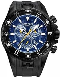 Reef tigre deporte relojes para hombres Cronógrafo Fecha luminoso cuarzo relojes correa de caucho rga303