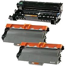 Compatible Brother DR3300 Tambor & 2x TN3380 Tóner para Brother DCP-8110DN DCP-8250DN HL-5440D HL-5450D HL-5450DN HL-5450DNT HL-5470DW HL-5480DW HL-6180DW HL-6180DWT MFC-8510DN MFC-8520DN MFC-8950DW MFC-8950DWT - Negro, Alta Capacidad