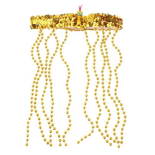 Sharplace Cleopatra Kopfschmuck Ägypterin Haarschmuck gold Ägyptische Königin Haarkette Fasching Ägypten Göttin Haarkranz Kopfschmuck Römin Griechin Kleopatra Goldschmuck Antike Mottoparty