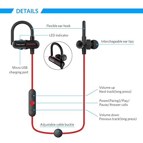 SoundPEATS Q11 auriculares in-ear Bluetooth 4.1