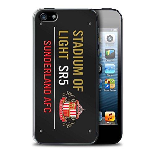 Offiziell Sunderland AFC Hülle / Case für Apple iPhone SE / Pack 6pcs Muster / SAFC Stadium of Light Zeichen Kollektion Schwarz/Gold