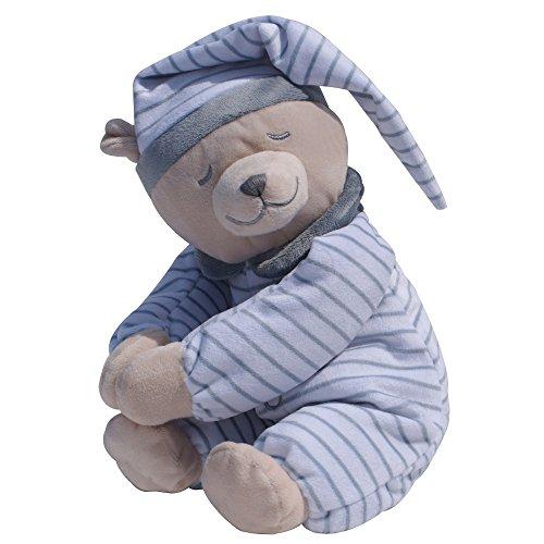 Babiage Doodoo Plüschtier, Design:Bär Streifen grau