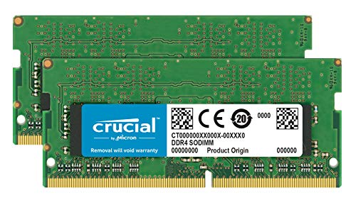 Crucial CT16G4SFD824A 32GB (16GB x2) Speicher Kit (DDR4, 2400 MT/s, PC4-19200, Dual Rank x8, SODIMM, 260-Pin) - Ddr Unbuffered Dimm-speicher
