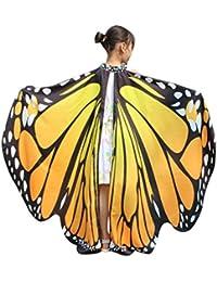 Bufandas del Cabrito, Xiahbong Muchachas de la Mariposa de las alas del Mantón Scarf de Halloween Ninfa del Traje del Poncho Pixie Accesorio