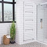 Minimalist Flat Panel Heated Towel Rail Radiator 1800 x 600 - White