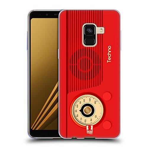Preisvergleich Produktbild Head Case Designs Techno Vintage Radio Telefon Soft Gel Hülle für Samsung Galaxy A8 Plus (2018)