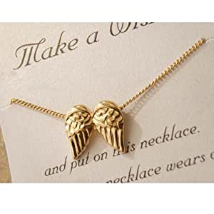 Lingstar(TM) Love Collection You Give My Heart Wings Golden Necklace Xmas