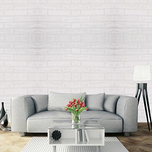 Papel Pintado Papel Pared Autoadhesivo 3D Ladrillo Empapelado Pegatina Mural Paneles Decorativos Wallpaper Extraíble Impermeable Decoración para Hogar Cocina Salón Moderna TV Decor 0,45M*10M