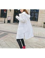 LQABW Printemps Et En Automne Coréenne Version Féminine De La Mode à Capuchon Coupe-vent Manteau