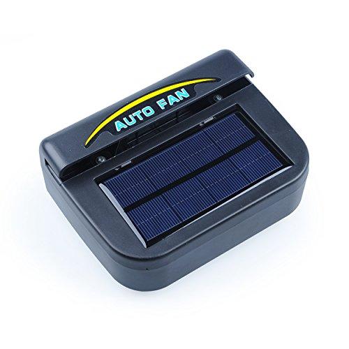 Preisvergleich Produktbild Auto Lüfter,  Solar Ventilator Auto Kiemen Enthitzer,  für Auto Automobil plastic black,  by LC Prime