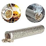 zhuyu, Tubo affumicatore in Pellet in Acciaio Inox, per trasformare la Tua Normale griglia in Un Vero affumicatore per griglia, Barbecue, Legno